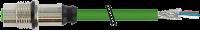 M12 female recept. D-cod. shielded RM Ethernet 7000-14511-7940050