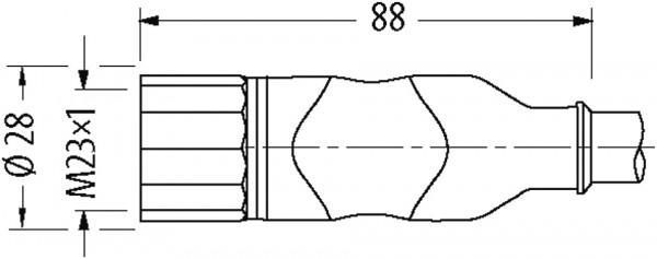 M23 servo cable