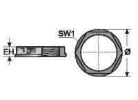 GMT M32X1 5 PORCA PLASTICA DE FIXACAO - PRETA MP83651460