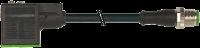 CABO M12 MACHO RETO + MSUD FORM A 18MM PVC PRETO 0,6 METROS 740921-6150060