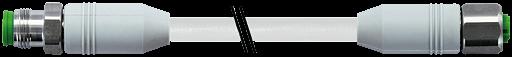 CABO PVC M12 MACHO R
