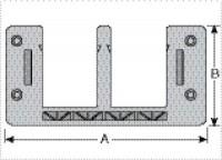 KDL/E 16/4 - PRENSA CABO BIPARTIDO P/ PAINEL - PLACA COM 4 ABERTURAS PEQUENAS MP87121011