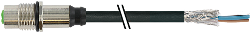 M12 female receptacle shielded rear mount