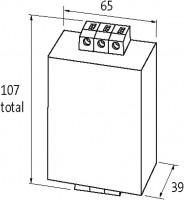 MEF 1/1- FILTRO MONOFASICO 1 ESTAGIO APLICACAO UNIVERSAL 0 250VAC /300VDC 20A ME10416