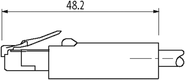 RJ45 male 0° / RJ45 male 0°, Gigabit