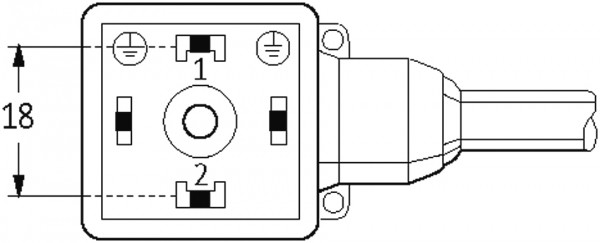 MSUD valve plug form A 18mm with cable