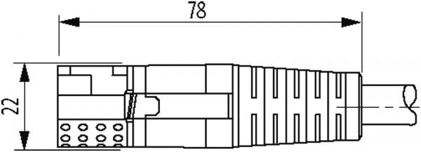 MQ15-X-Power male 0° / MQ15-X-Power female 0°