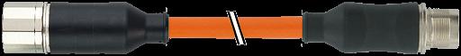 CABO COM CONECTOR M23 FEMEA RETO COM M23 MACHO RETO REF SIEMENS M6FX8002-5DA05 P