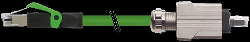 RJ45 Push Pull male 0°/ RJ45 male 0° Ethernet