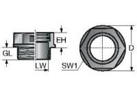 SVT M20X1 5/11 TERMINACAO PLASTICA BIPARTIDA P/ CONDUITE M20X1 5 / P11 - PRETO MP83651262
