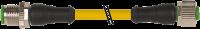 CABO PVC OB M12 MACHORETO+FEMEARETO 4POLOS AMARELO 10M 740021-0141000